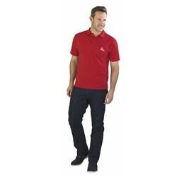 US Basic Mens Elemental Golf Shirt in Red Code BAS-7000
