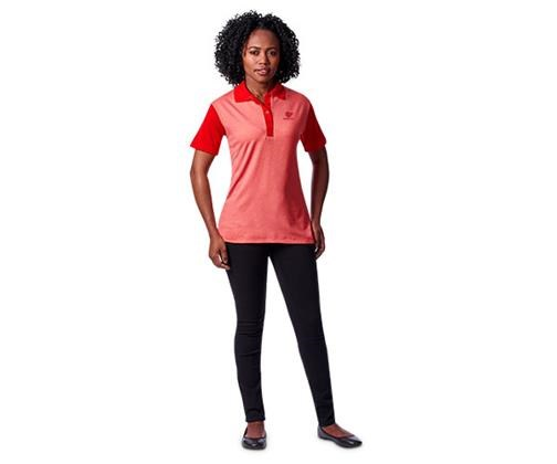 Altitude Crossfire Ladies Golfer in Melange Red and Red Code CFL04
